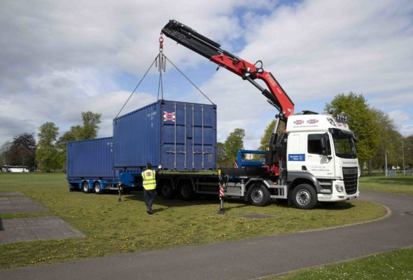 Scotloo/Scotbox new lorry and Crane